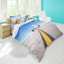 Single bed quilt cover 172cmx218cm bedding aircraft pattern pillowcase three-piece set supports DIY pattern large