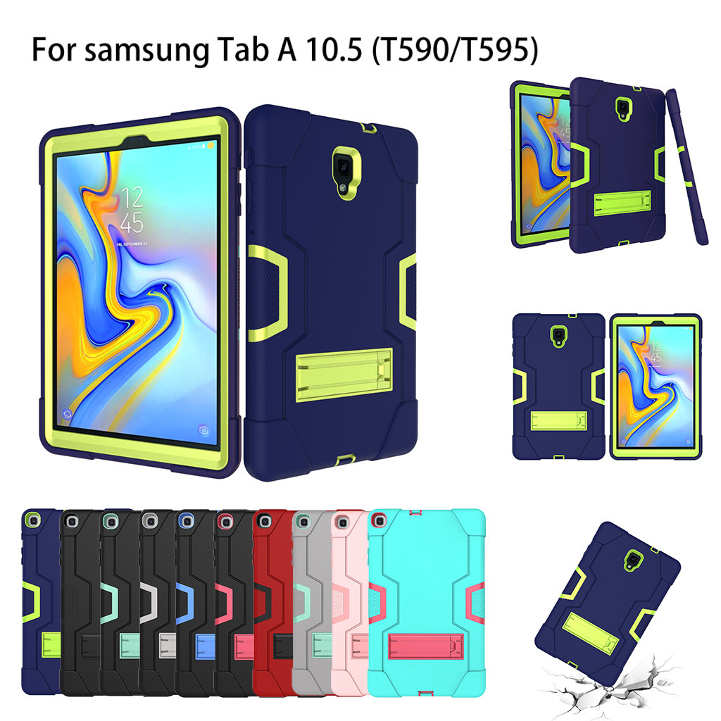For Samsung Galaxy Tab A 10.5 T590 T595 2019 Tablet Stand Rugged Cover Hard Case Tablets Case Cover Protection