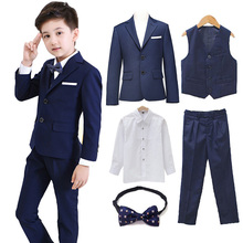 5pcs/set Boys Blazer Suits set (suit+pan