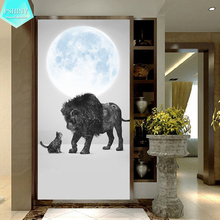 PSHINY 5D DIY Diamond embroidery sale lion and cats animal Full drill round rhinestones pictures Painting new arrivals