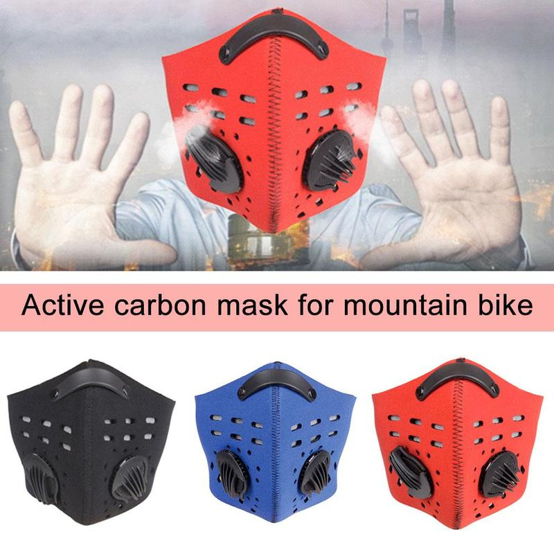 Breathable Bacteria-proof Sport Face Mask Non-disposable With Activated Carbon PM2.5 Anti-dust Running Cycling Face Mask