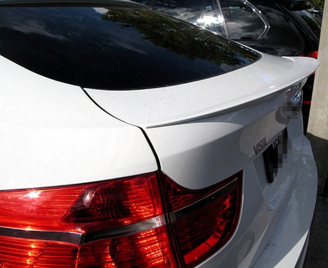 For <font><b>BMW</b></font> X6 E71 e72 <font><b>Spoiler</b></font> ABS Material Car Rear Wing Primer Color Rear lip trunk <font><b>Spoiler</b></font> For <font><b>BMW</b></font> X6 SUV <font><b>Spoiler</b></font> 2007-2014 image