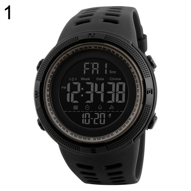 Couple Watches Men Fashion Outdoor Alarm Clock Digital Display Waterproof Calendar Sports Wrist Watch Silicone band relogio inte 4