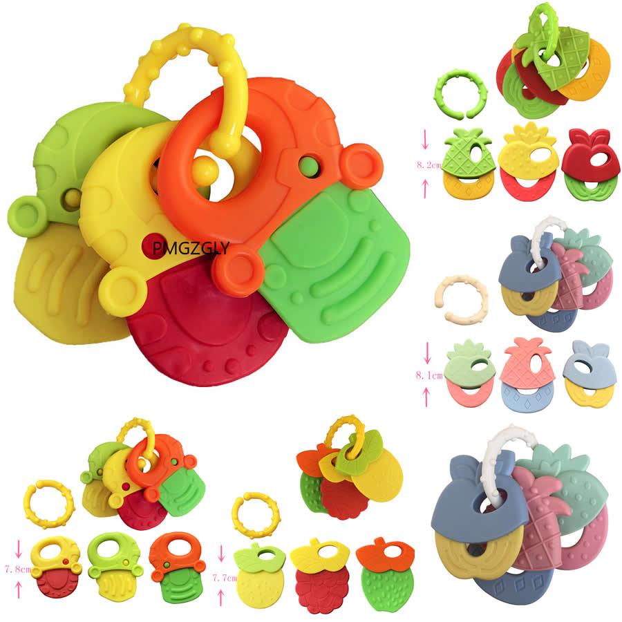 Baby Toy Newborn Chews Food Grade Silicone Teethers Training Bed Toy New Chews Food Grade Silicone Feeding Infant Pacifier