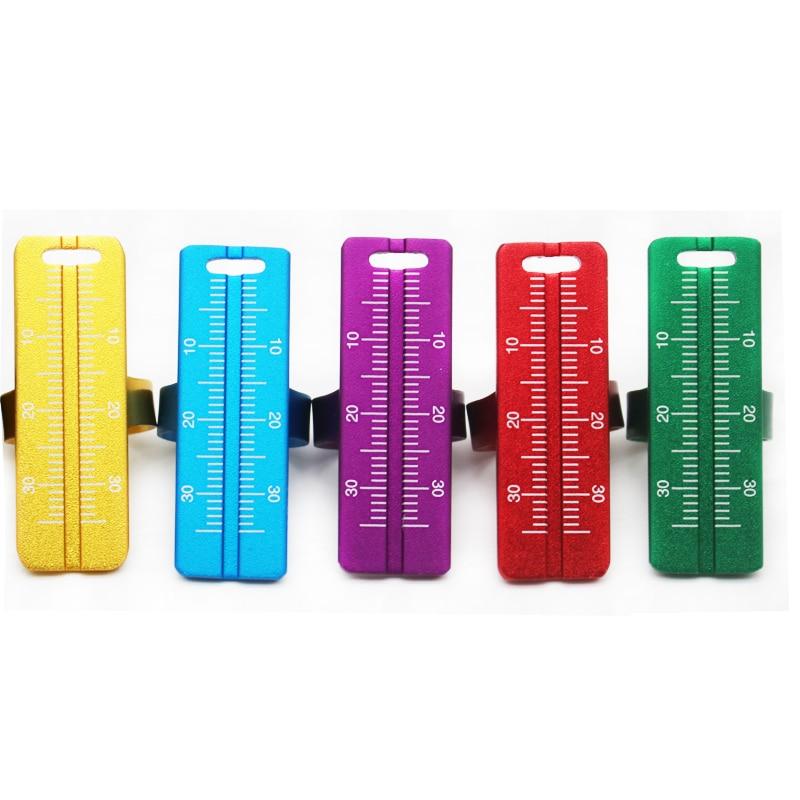 1 Pcs Dental Instrument Aluminium Alloy Colorful Dentistry Ring Ruler Root Canal Measuring Tool For Endodontic Dentist Tools