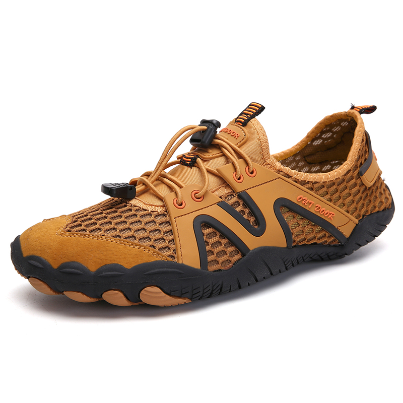 Outdoor Unisex Waterproof Light Shoes Breathable Rubber Anti-Slip Summer Beach Comfortable Sandals Shoes Men Large Size Shoes