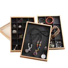 Display-Box Bracelet Ring Jewelry Bamboo Showcase Storage-Tray Watch Multi-Function