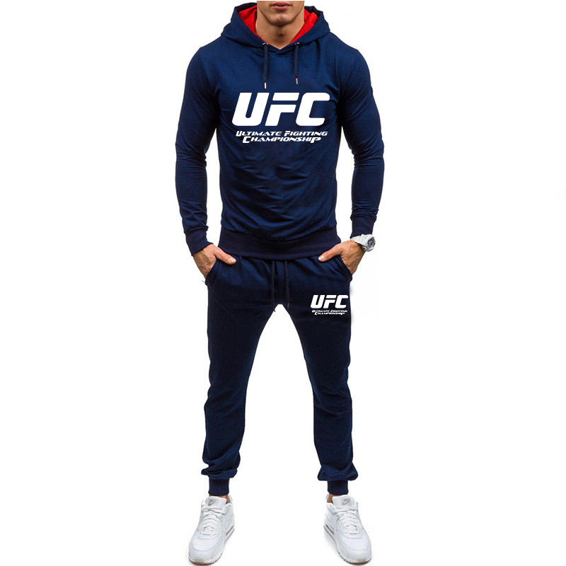 New 2020 High Quality Men Long Sleeve Hoodies+Pants Set Male Tracksuit Sport Suit Men's Gyms Set Casual Sportswear Suit