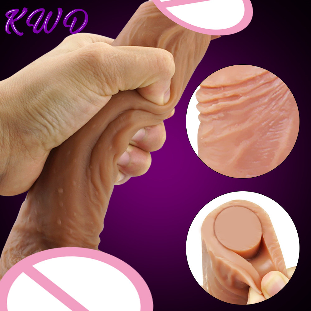 7/9in Super Realistic Big Dildo Flexible Penis Dick With Suction Cup Adult Products Female Masturbation Sex Toys For Women