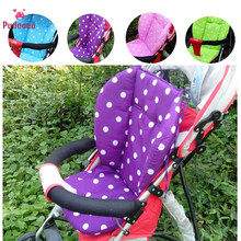 Pudcoco Brand 1 PC Thick Infant Baby Stroller Seat Warm Pushchair Cushion Carseat Cotton Cover Mat Dot Polka 4 Colors(China)