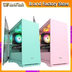 Gaming Pc Case Computer-Case Chasis Gamer Htpc Desktop Tempered-Glass Completo Pink Aigo Dlm22