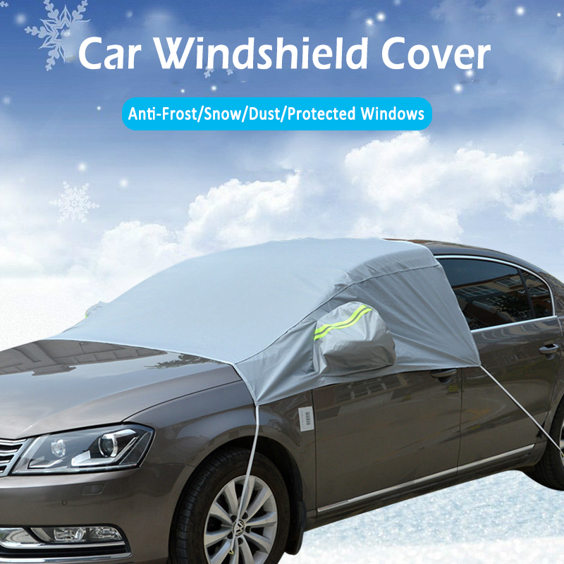 Auto Cover Voorruit Shield Cover Vorst Ijs Sneeuw Uv Zon Dust Screen Protector Auto-accessoires Winter Voorruit Sneeuw Cover