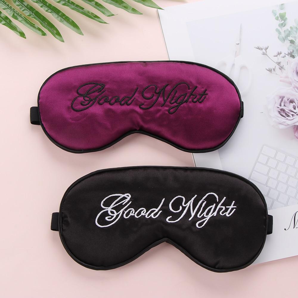 2020 New Good Night Sleep Mask Natural Sleeping Eye Mask Eyeshade Cover Shade Eye Patch Women Men Soft Blindfold Travel Eyepatch