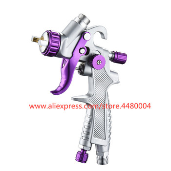 HVLP manual spray gun mini 0.8mm 250CC gravity with accessories