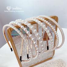 CC тиара головная повязка жемчужный ободок свадебные аксессуары для волос для женщин свадебные головные уборы Королевская корона Роскошные...