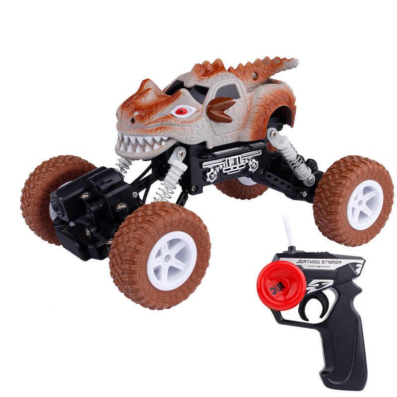 דינוזאור שלט רחוק לרכב עבור בני צעצועי גיל 3-6 מיני דינו RC מכונית צעצועי RC מפלצת משאית אידיאלי מתנות לילדים 1:43 בקנה מידה