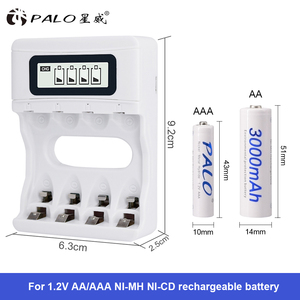 Image 1 - حار! ذكي 4 فتحات الذكية LCD شاحن بطارية USB قابل لإعادة الشحن شاحن لبطاريات AA / AAA NiCd NiMh قابلة للشحن