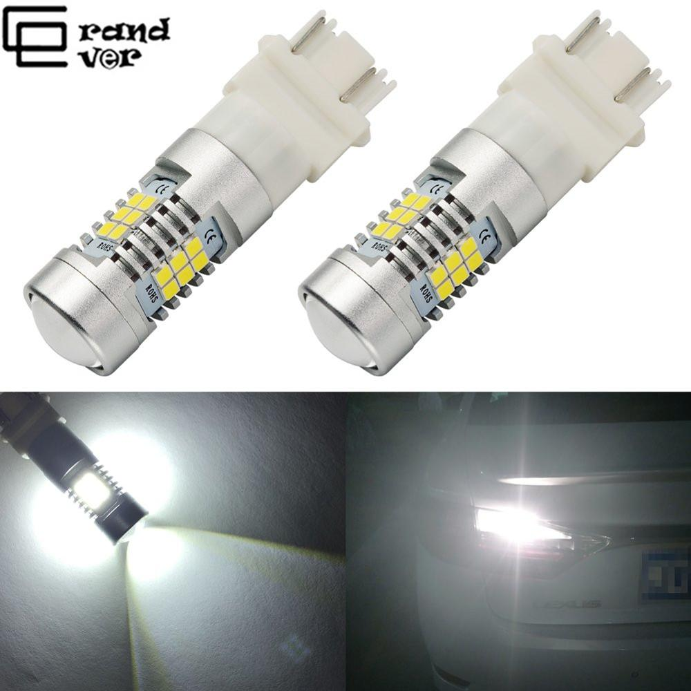 1PCS 3157 3156 3057 3056 LED Bulb Xenon 6000K Super Bright 21SMD LED With Projector Lens For Reverse Brake Turn Signal Lights