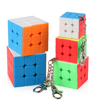 Moyu KeyChain Mini 3x3x3 Packing Magic Cube Brain Teaser Stickerless cube keychain Keyring puzzle key chain toys - discount item  22% OFF Games And Puzzles