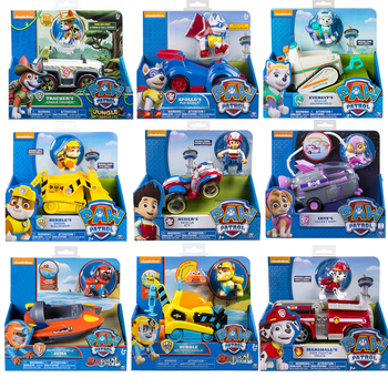Genuine Paw Patrol Vehicle Rescue Series Anime Apollo Tracker Everest Puppy Car Action Figure Kid Birthday Set