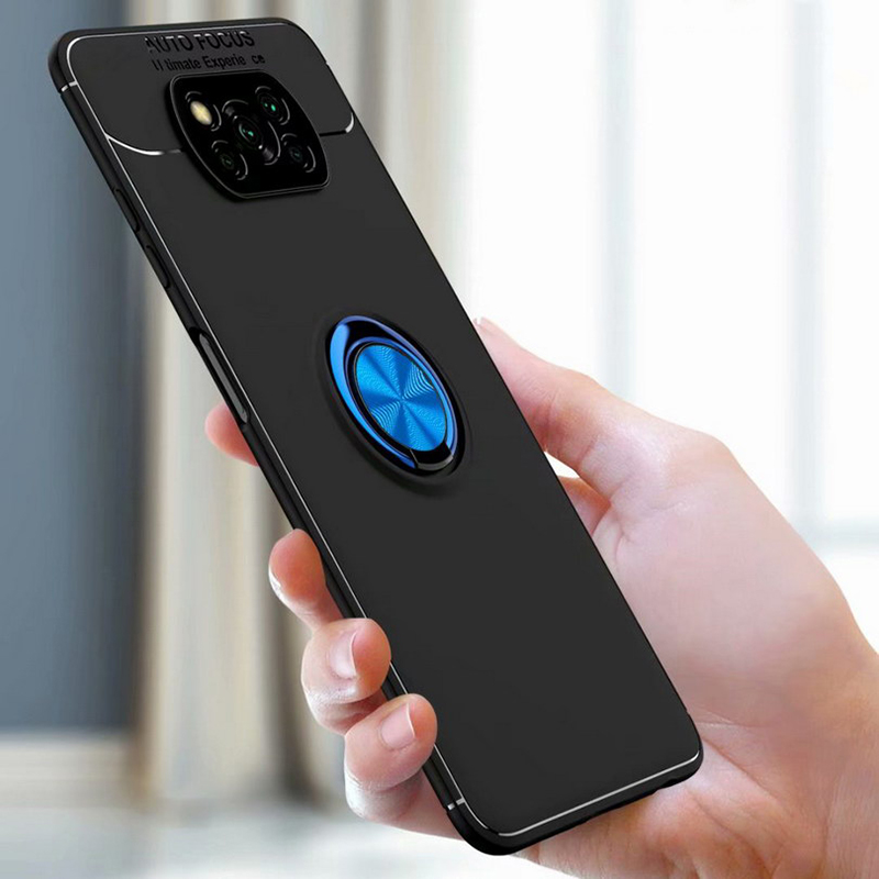 For POCO X3 NFC Magnetic Metal Ring Stand Soft TPU Shockproof Case Cover For Xiaomi Mi F2 Pro 10 9 SE A3 Lite Redmi K30 Pro|Fitted Cases| - AliExpress