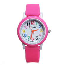 2019 New Arrival quartz children watch Silicone Band learn to time number