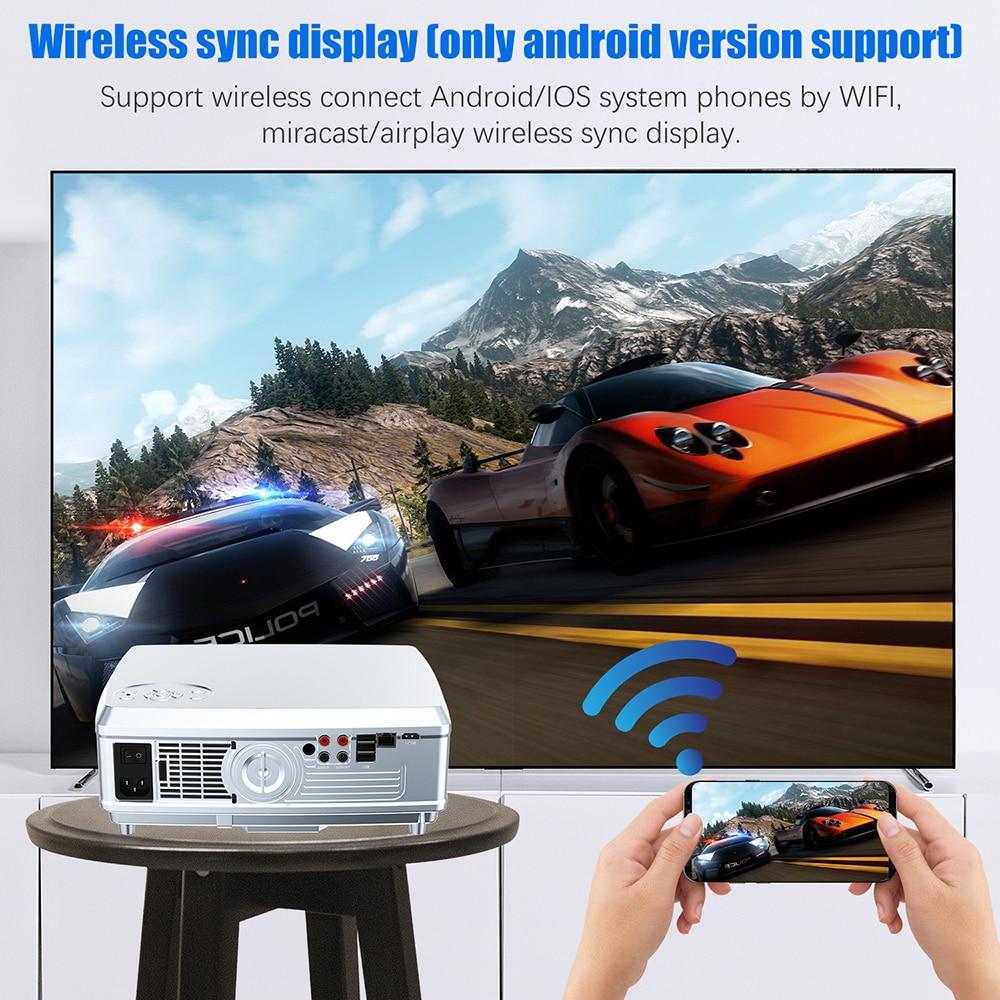 LEISTUNGSSTARKE Full HD Projektor 1920*1080P LED proyector Android 7.1 (2G + 16G) mit Wifi Bluetooth AC3 unterstützung 4K Heimkino Beamer