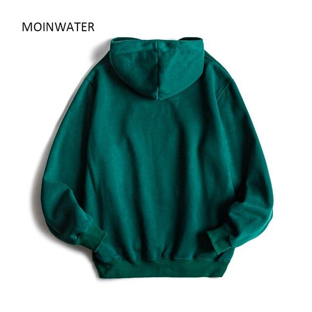 MOINWATER Brand New Women Fleece Hoodies Lady Streetwear Sweatshirt Female White Black Winter Warm Hoodie Outerwear MH2001 2