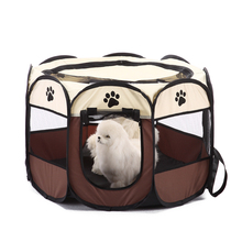 Portable Foldable Pet Playpen Carrying Kennel Collapsible Travel Tent Indoor Outdoor Use Waterproof Removable Shade Cover D25 3 x 9m portable home use waterproof tent white high quality outdoor travel waterproof tent easy to install and use