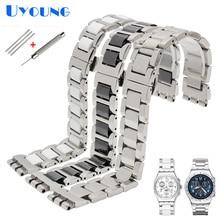 金属時計バンド見本 YGS716 YAS100 YVS441G/YAS112G 腕時計ブレスレットステンレス鋼 + セラミック時計バンド 17 ミリメートル女性手首