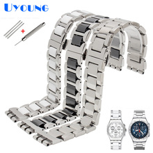 metal Watchband For Swatch YGS716 YAS100 YVS441G/YAS112G watch bracelet Stainless steel + Ceramic Watch Band 17mm women wrist
