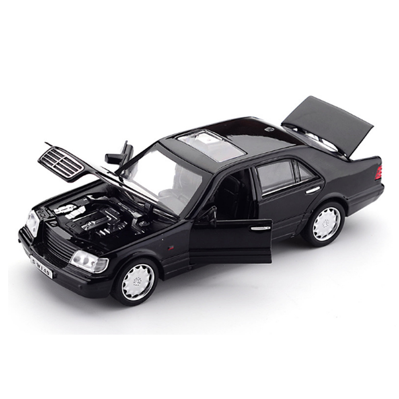 KIDAMI W140 1:32 Alloy Model Car With Sound Light Pull-back Toy Car Model Metal Diecast Vehicle Toys For Children Boy Gifts