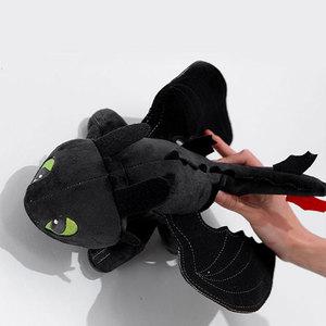 Image 3 - 15 60cm ejderhanı nasıl eğitirsin dişsiz ışık Fury oyuncak Anime figürü gece Fury ejderha peluş oyuncak bebekler oyuncaklar çocuklar çocuklar için