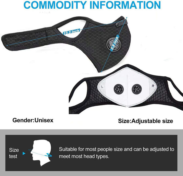 Breathable Bacteria-proof Sport Face Mask With Activated Carbon PM 2.5 Anti-pollution Running Cycling Facial Care Mask 2
