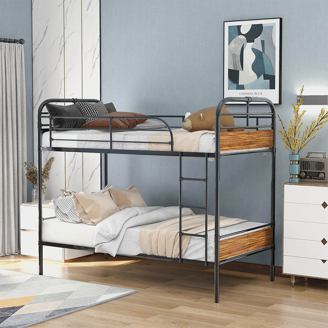 Triple Bed with Ladder  Bed Frame 5