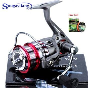 Sougayilang 9+1BB Carp Fishing Reel 6.2:1 High Speed Gear Ratio Alluminum Spool Spinning Fishing Reel with Magnetic Brake System