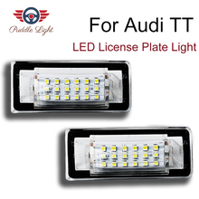 2pcs For AUDI TT MK1 Roadster Coupe 8N LED License Plate Lights Bulb 12V White 6500K Number Car Accessories