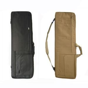 Image 3 - Черный/коричневый тактический Чехол для винтовки, страйкбольная кобура, сумка для оружия, тактический охотничий рюкзак, Военный Рюкзак, Сумка для кемпинга, рыболовных принадлежностей