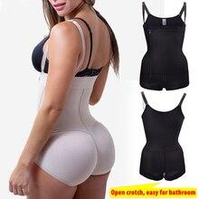 Artı boyutu lateks kadın zayıflama vücut şekillendirici iç çamaşırı sonrası Liposuction kuşak klip Bodysuit bel tam vücut şekillendirici Shapewear