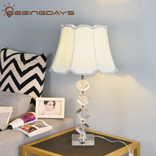 Free Ship Bevel K9 Crystal Stone Table Lamps For Bedroom For Living Room Bedside Lamp LED