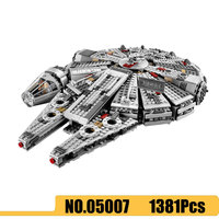 Force Awakens Star Set Wars Series Compatible 79211 1381pcs Millennium 05007 Falcon Building Blocks kid gift toys