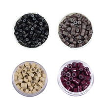 500pcs 5mm Micro Ring Beads Silicone Bead Link Microring for Feather Hair Extension Tools