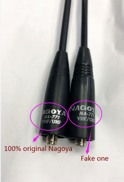 1 para oryginalny Nagoya NA-771 NA 771 daleki zasięg antena do baofeng UV-5R GT-3 Yaesu Vertex sma-kobieta Walkie Talkie wzmacniacz