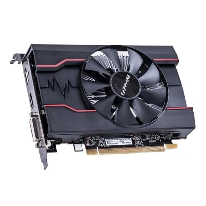 Used SAPPHIRE RX 550 2GB Video Cards GPU For AMD Radeon RX500 2GB GDDR5 Graphics Cards PC DisplayPort HDMI DVI 128bit PCI-E 2