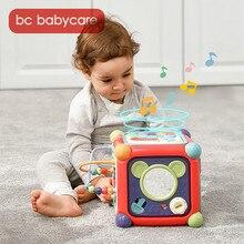 BC Babycare-juguetes musicales multifuncionales para bebés, bloques geométricos, juguetes educativos de clasificación, engranaje de cuentas, caja de juguete para teléfono