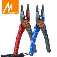 MEREDITH Aluminium Angeln Zangen Fischerei Werkzeuge Zangen Multifunktionale Edelstahl Schere Split Ring Haken Entfernt Werkzeuge