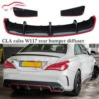 W117 Carbon Fiber Rear Bumper Diffuser Lip for Mercedes CLA class W117 A117 C117 2014 2015 2016 CLA180 CLA200 CLA250 CLA45 AMG