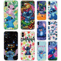 2019 Stitch Ohana Silicone Cover For iphones 11 Pro X XR XS MAX 6 6S 7 8 9 Plus For iPod Touch 5 6 7 Rubber Soft TPU Phone Case