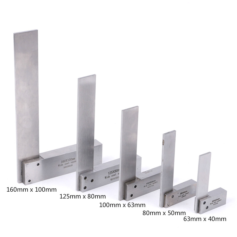 NEW Ruler Machinist Square Rulers 90 Degree Right Angle Engineer Precision Ground Hardened Steel Angle Ruler Measure Tools
