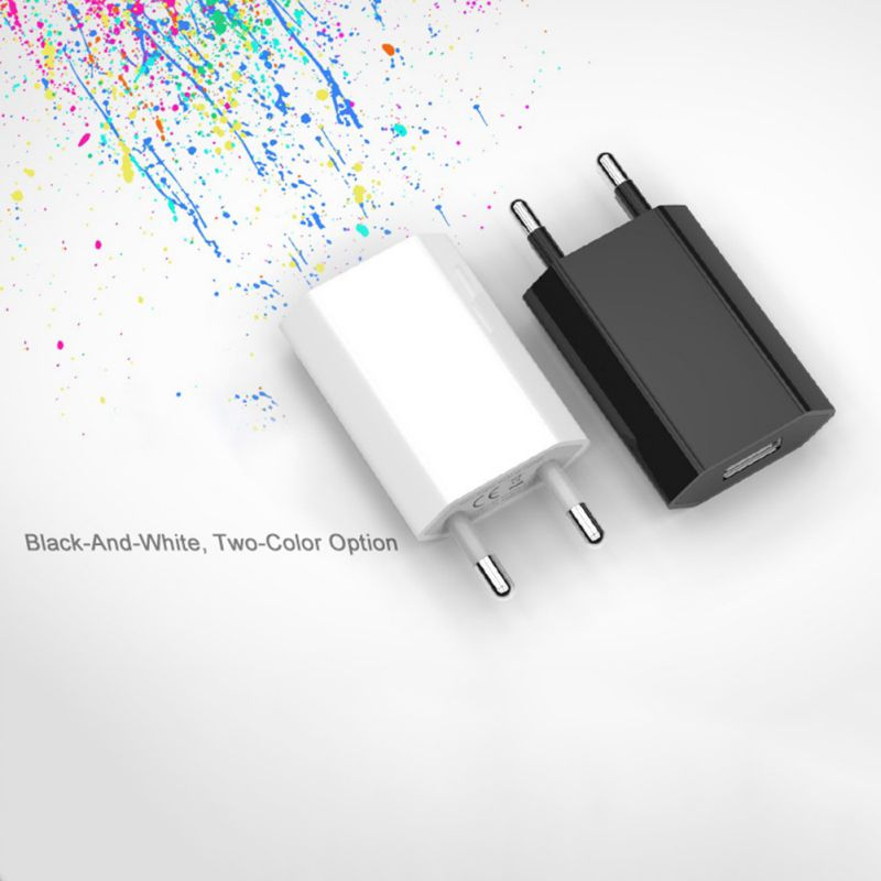 Super White Color EU Plug Power Adapter USB Charger Universal Phone Wall Charger 5A Charging Head No Cable For IPhone Huawei - 5